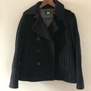 J.Crew Classic Peacoat 100% wool fully lined